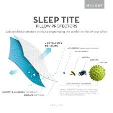 amazon com sleep tite hypoallergenic pillow protector king set