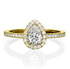 gold pear shaped engagement ring pear shaped engagement ring 14k gold engagement ring 0 5 1