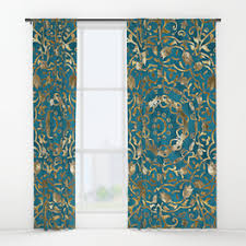 Moroccan Style Curtains Damask Window Curtains Society6
