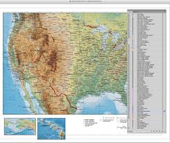 map usa oceans digital united states terrain map in adobe illustrator vector