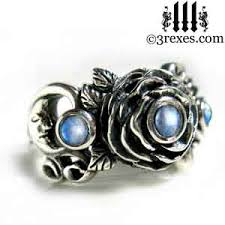 Moonstone Wedding Ring by 3 Rexes Ring Gallery