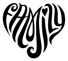hippy family heart love vinyl decal sticker car window 2 vinyl