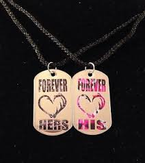 his and hers dog tags his hers antler hook heart dog tag necklaces 2 pc set new buck doe