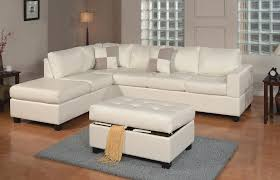 Sofa Beds Miami by White Bonded Leather Sectional With Ottoman F7354 Miami Furniture