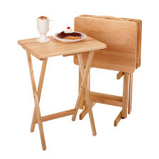 Amazon Com Winsome Wood 42520 Alex Snack Table Natural Set 5 Pc