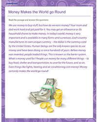 money makes the world go round u2013 comprehension worksheets online