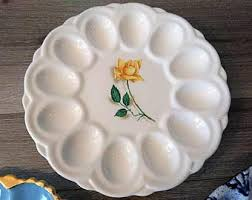 devilled egg plate deviled egg plate etsy
