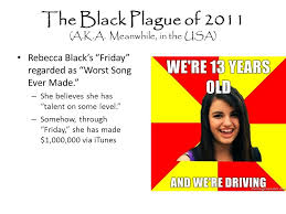 Rebecca Black Meme Generator - the news april fools edition by matthew mccaffrey ppt download