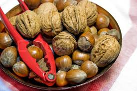 christmas nuts bowl of christmas nuts stock photo colourbox