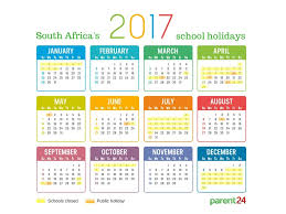 printable 2017 holidays in south africa calendar parent24