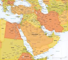 Middle East Physical Map by Vector Map Middle East Political High Detail One Stop Map