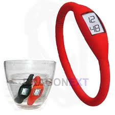 silicone bracelet watches images Ultra light waterproof minus ion silicone sport wrist watch jpg