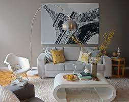 Eiffel Tower Room Decor Yellow And Grey Living Room Eiffel Tower Paris Wall Decoration