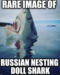 Saw Doll Meme - russian nesting doll shark imgflip