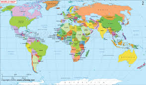 world map political with country names free map world countries major tourist attractions maps