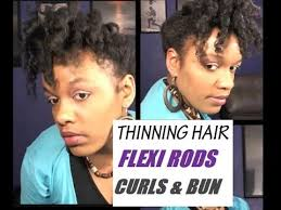 natural hair styles for thinning hair in the crown natural hairstyles for thinning hair flexi rod curls updo on