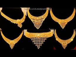 light weight necklace designs gold jewellery
