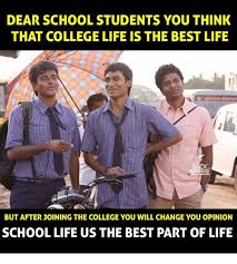 College Life Memes - dear school students you think that college life is the best life