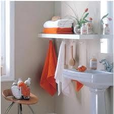 accessoires cuisine originaux etageres de salle de bain avec porte serviettes exploiter