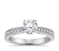 engagement ring engravings engraved micropavé diamond engagement ring in platinum 1 6