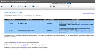 how to check the application status of an american express credit