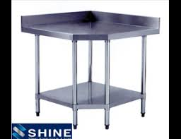 stainless steel corner work table ss commercial kitchen equipment catering sink and cupboard unit