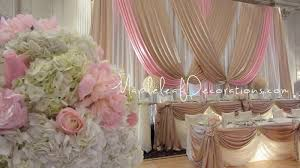wedding backdrop gold toronto wedding decorations custom backdrop and table draping