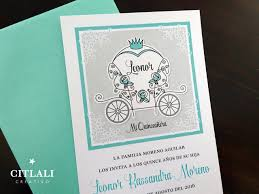 Sweet 16 Invitations Cards Fairytale Horse Carriage U0026 Crown Sweet 16 Quinceañera