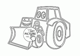 cartoon excavator coloring page for kids transportation coloring