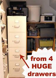 Metal Filing Cabinet 4 Drawer Our Filing Cabinet Downsize Upgrade And Makeover Andrea Dekker