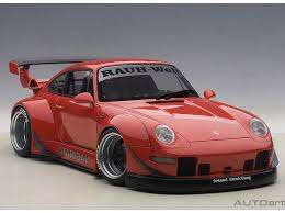 porsche rwb red rwb porsche 993 w grey wheels autoart 78153 die cast model 1