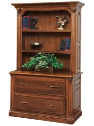 bookcase with file cabinet jefferson lateral file with optional bookshelf from dutchcrafters