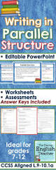 parallel structure powerpoint worksheets tests quizzes