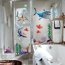 bathroom decorating ideas for kids exquisite bathroom decorating for kids with sticker wall 3d fish on