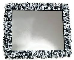 Decorative Mirrors For Bathrooms by Black And White Large Mirror Wall Mirror Bathroom Mirror