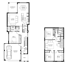 narrow lot house plans storey 4 bedroom house designs perth apg homes