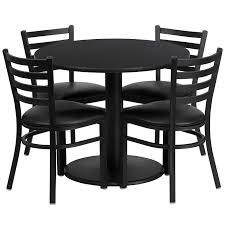 Garden Table And Chairs Ebay Amazon Com Flash Furniture 36 U0027 U0027 Round Black Laminate Table Set