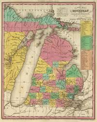 Upper Peninsula Michigan Map by 1836 Michigan Map