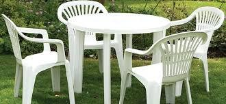 White Plastic Garden Furniture Plastic Patio Furniture White Plastic