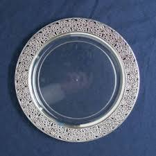 silver wedding plates 21 best disposable items images on dishes
