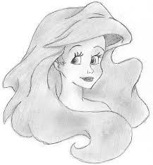 mermaid close piece character art drawing