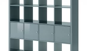 Ikea Kallax Shelving Unit Gloss Kallax Shelf Unit With 4 Inserts High Gloss Gray Turquoise