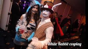white rabbit halloween costume white rabbit cosplay youtube