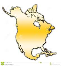 Blank North America Map by North America Outline Map Royalty Free Stock Image Image 27382586