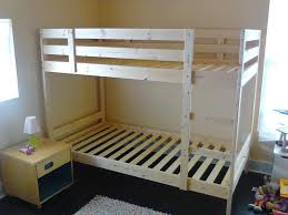 ikea bunk bed frame comfort u0026 simplicity in a room for four