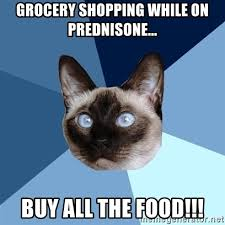 Buy All The Food Meme - grocery shopping while on prednisone buy all the food