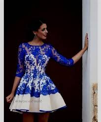 royal blue cocktail dress with sleeves 2017 2018 best clothe shop