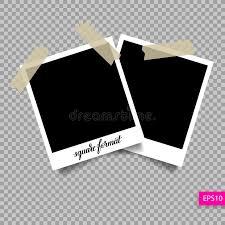 retro square polaroid photo frame template stock vector image