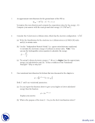 helium atom advanced physical chemistry homework