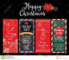 christmas party invitation holiday card stock vector image